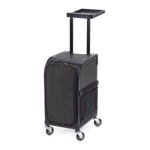 Rollercoaster Black Rolling Table Suitcase 020060139