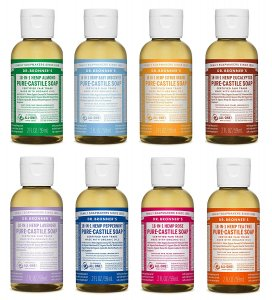 Dr. Bronner's 2 Ounce Sampler-environmentally friendly shampoo_