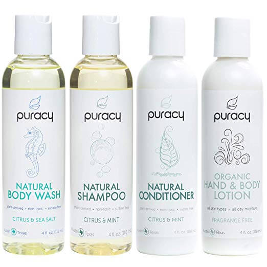 Puracy Organic Personal Care Travel Set (4-Pack)-enviromentally-friendly-shampoo_