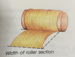 width of roller section