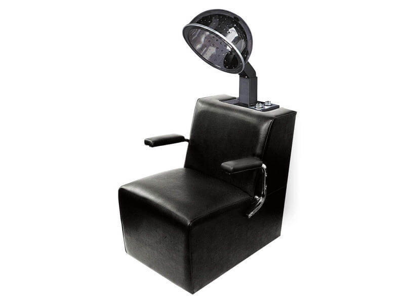 salon hooded hair dryer with chair