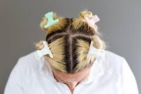 4 section hair