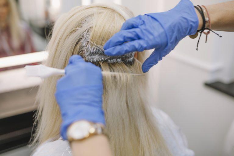 Blonde hair dye